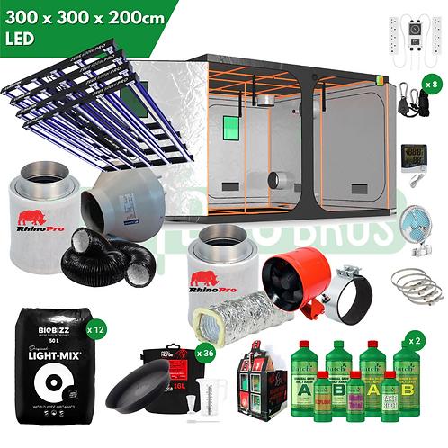 300 x 300 x 200 Lumatek Zeus 600w Pro LED Grow Kit