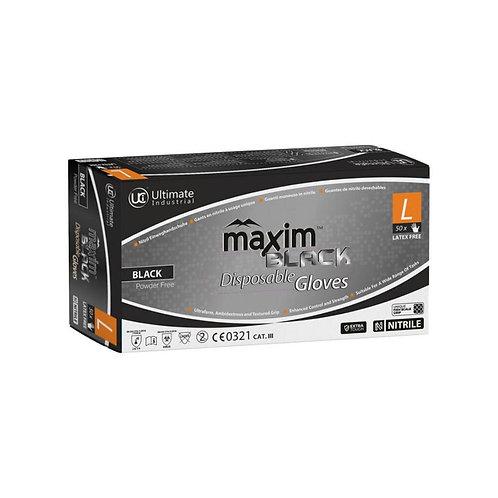 Maxim Black Disposable Gloves (Box of 50)