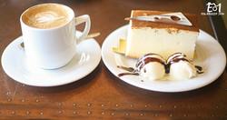 עוגת גבינה וקפה- 2 שורות עיגולים+ לוגו (Medium)