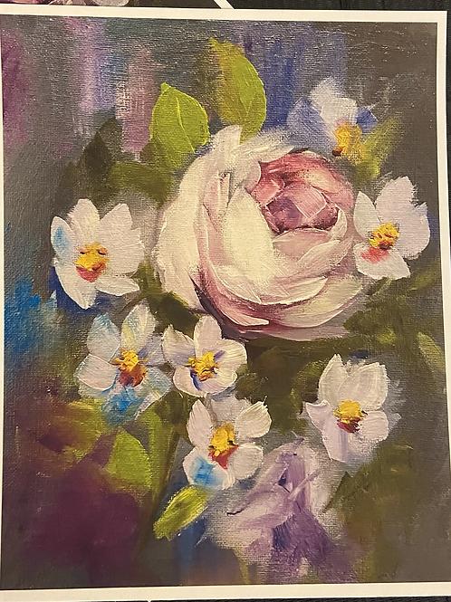 Purple Roses Print