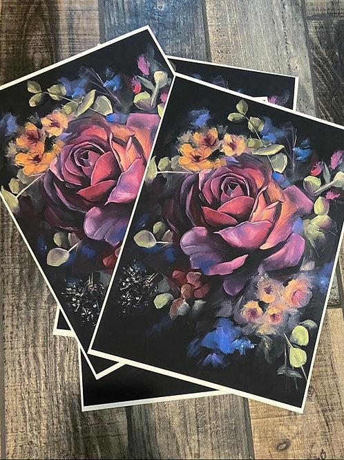 Dark Rose Print