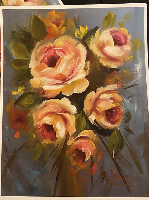 Yellow Roses Print