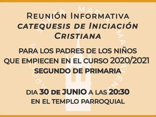 Reunión Iniciación Cristiana