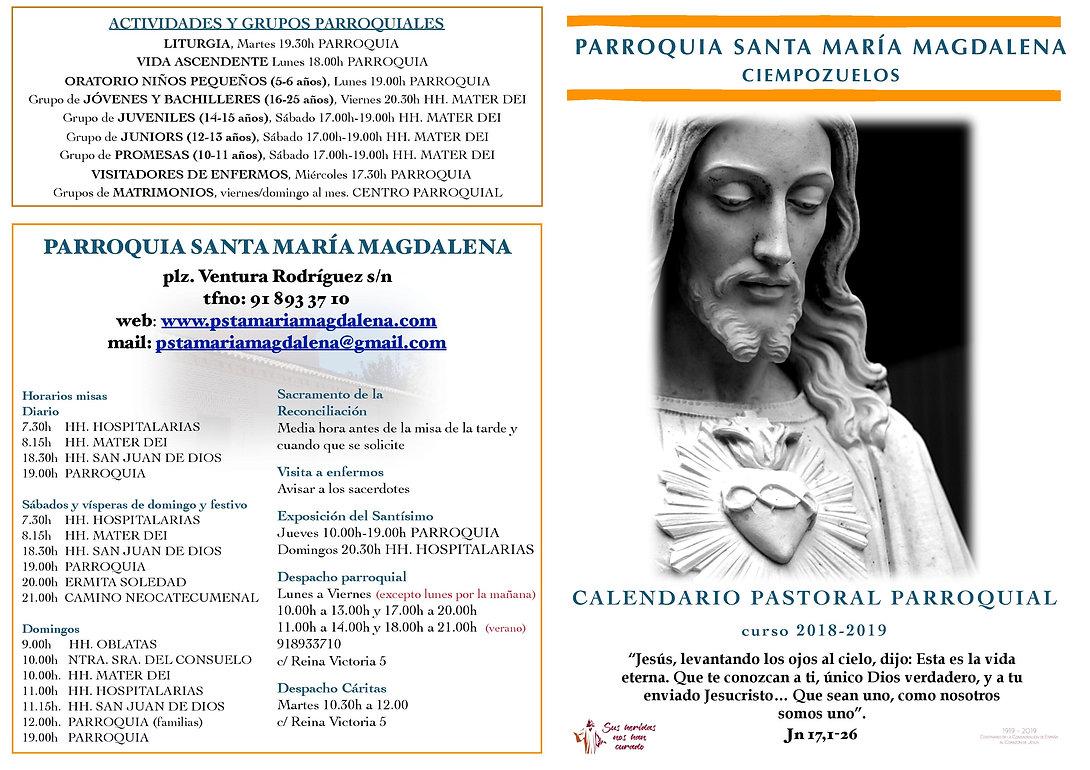 Calendario Pastoral Parroquial 2018-2019