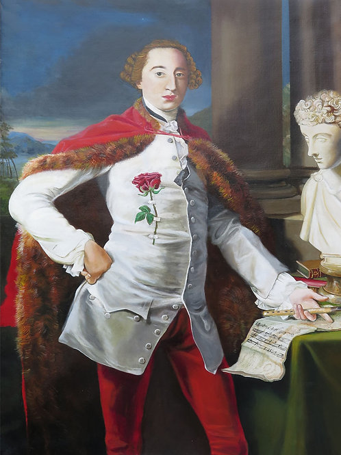Rosencrats Turncoat After Portrait of Richard Milles1758 By Pompeo Batoni