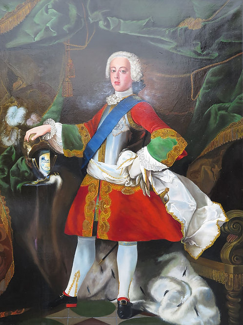 """Roberto Turncoat"" After ""Prince Charles Edward Stuart"" 1738 Louis Gabriel Blanc"