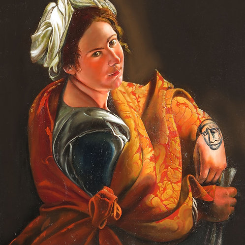 After Portrait of a Young Woman as Sybyl1620 by Gentileschi
