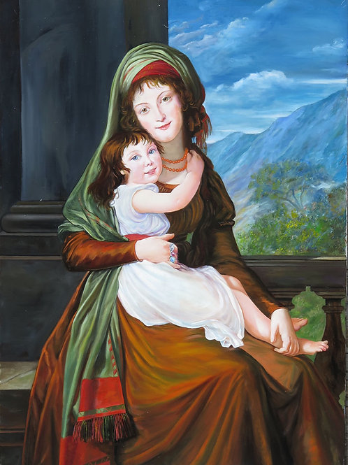 After The Graefin von Schoenfeld with her daughter 1793 Elizabeth Vigee-Lebrun