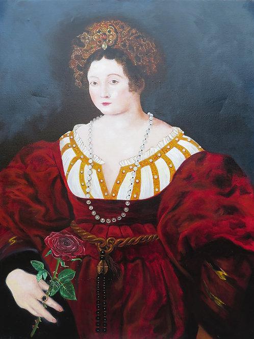 Princess After Portrait of Isobella d'Este1529 By Peter Paul Rubens
