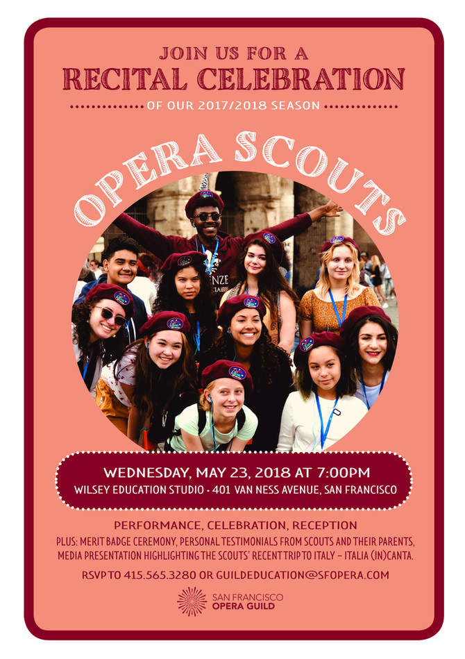 Opera Scouts End Of Year Recital!