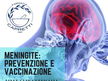 MENINGITE: 10 utili informazioni per la prevenzione e la vaccinazione.
