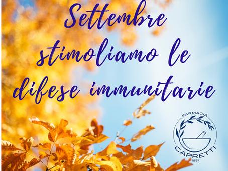 Settembre, è tempo di rinforzare le difese immunitarie: consigli pratici!