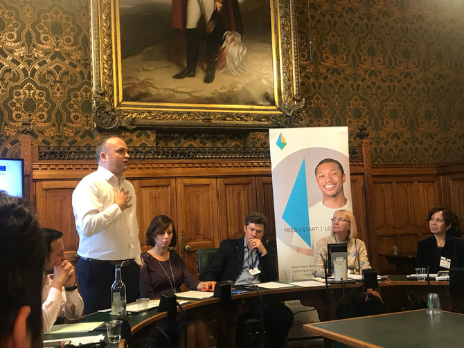 At the House of Commons - Sharing lessons from Fresh Start