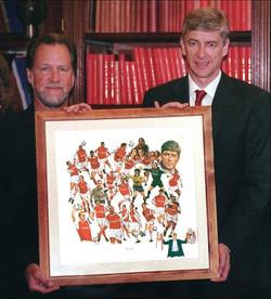 With Arsene Wenger