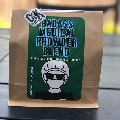 1lb bag of Badass Medical Provider Blend