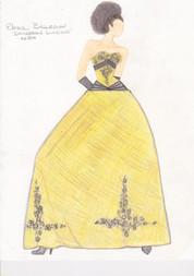 Elena Ball Gown Sketch