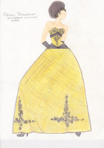 Elena Ball Gown Sketch