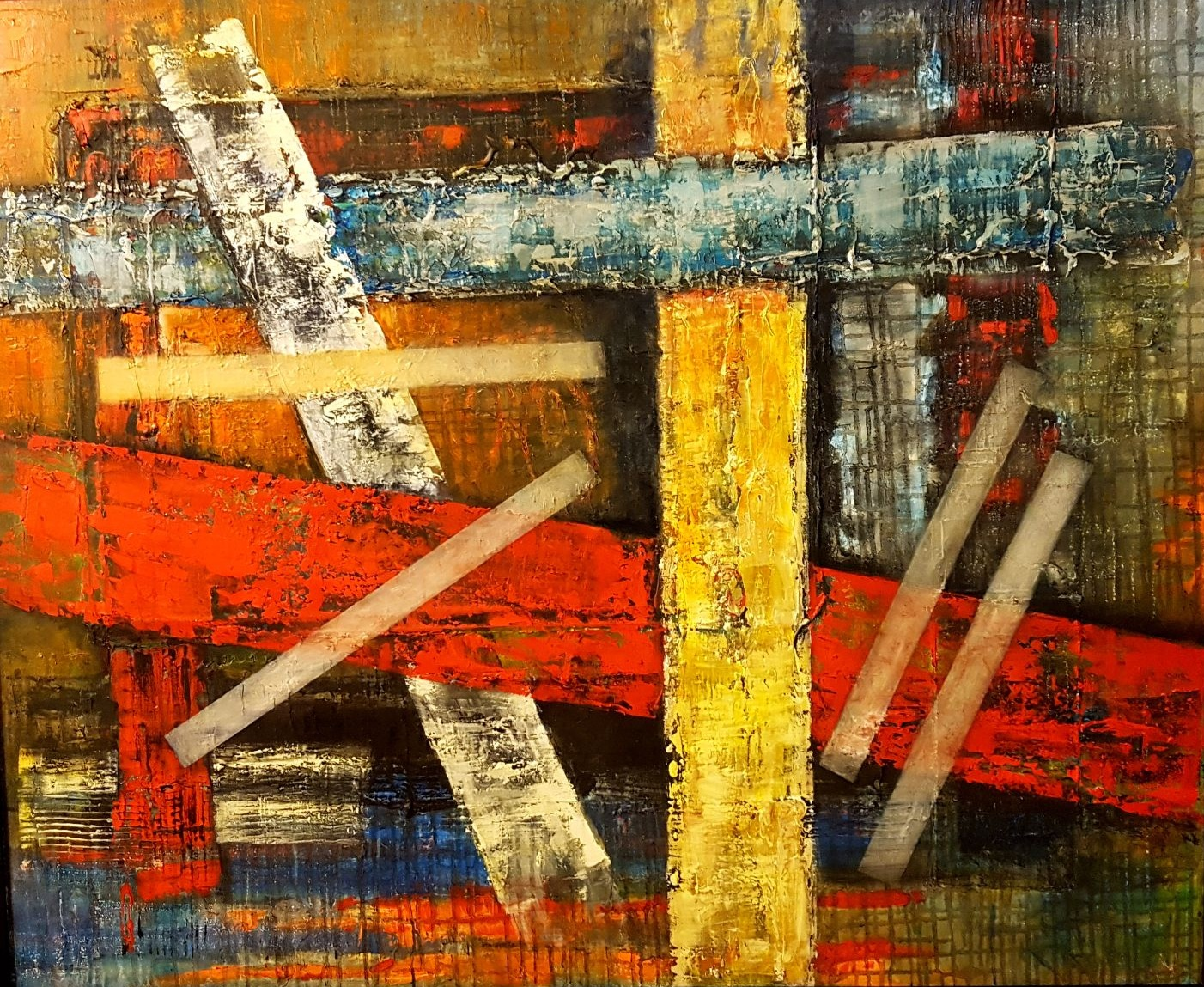 ESPACIOS DE SANAR, oleo sobre tela, 100 x 120 cm, Teresa Cabo, 2017