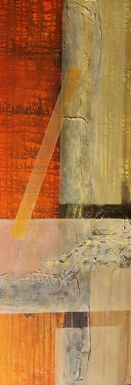 Curando Almas, t mixta sobre tela, diptico, 100 x40 cm (I), Teresa Cabo, 2017