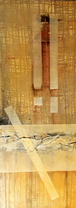 Curando Almas, t mixta sobre tela, diptico, 100 x40 cm (II), Teresa Cabo, 2017