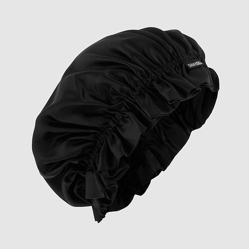 Shhh Silk Black Face Bonnet