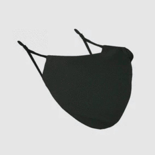 Reusable Black Silk Face Covering Mask