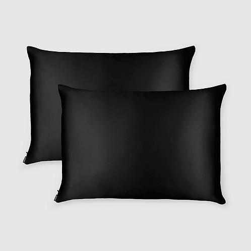 Shhh Silk Black Pillow Case