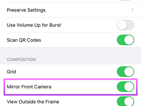 iOS14 Camera Now Lets You Turn See Photos Without Being Flipped