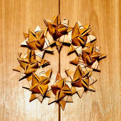 星のリース(直径12cm)