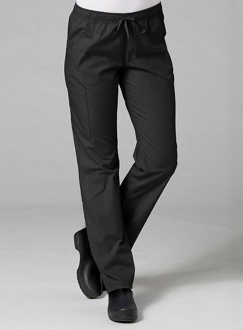 Full Elastic Cargo Pant -Black