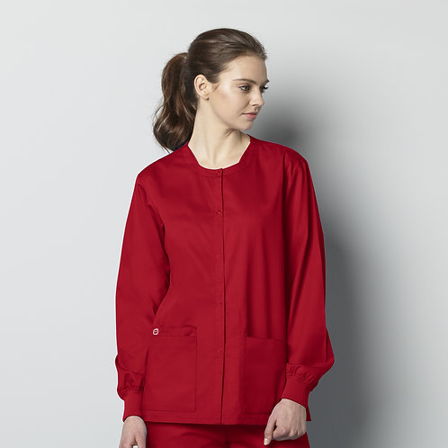 Unisex Snap Front Jacket 800 - Red