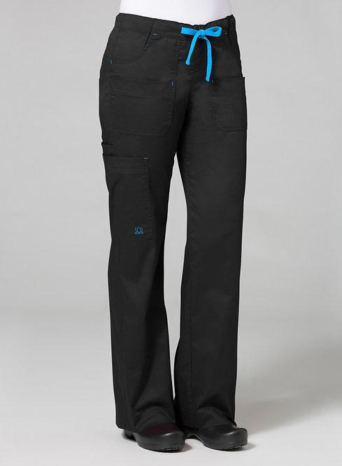 9202 [Blossom]  Utility Cargo Pant Black
