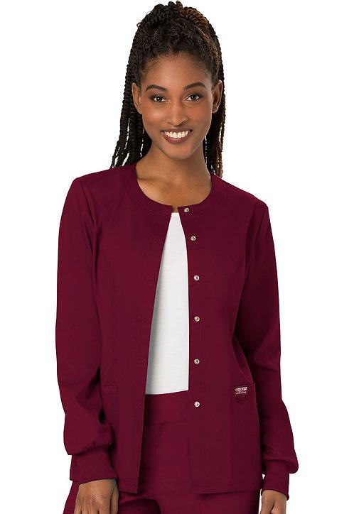Cherokee - Workwear Revolution -Modern Classic Warmup Jacket - Wine