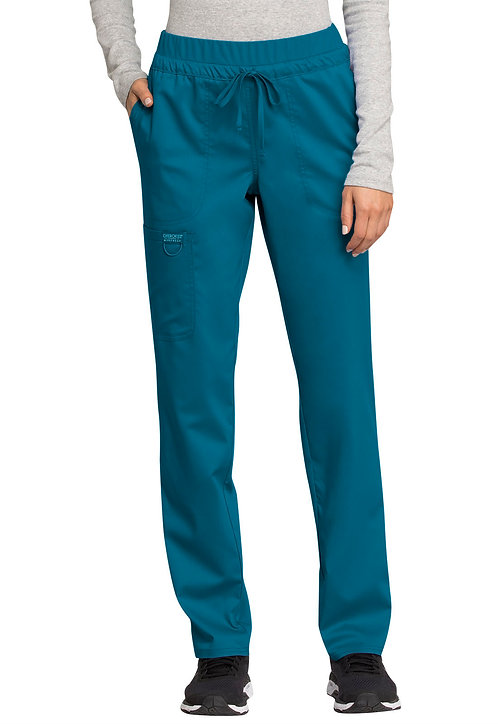 SDW - Cherokee - Workwear Revolution - Mid Rise Tapered Leg Drawstring Pant -C