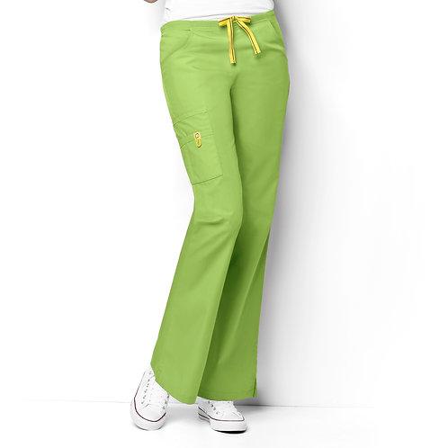 Romeo -6Pkt Flare Leg Women's Pant Green Apple