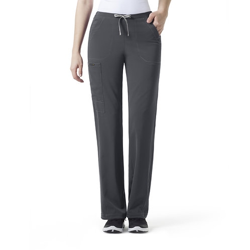 ION- Boot Cut Cinch Cargo Women's Pant Pewter