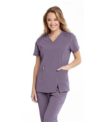 Barco-Wellness - 4 pocket v-neck contrast top