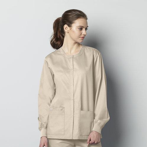 Unisex Snap Front Jacket 800 -Khaki
