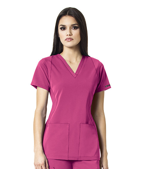 SYNC - V-Neck  Women's Top Fushia