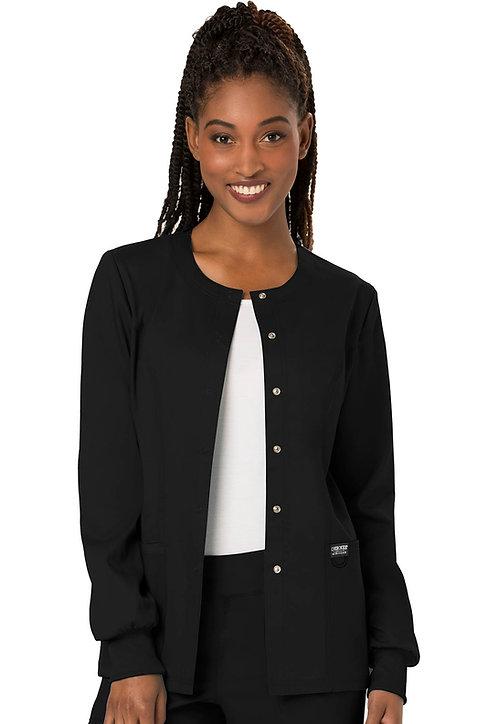 Cherokee - Workwear Revolution -Modern Classic Warmup Jacket - Black
