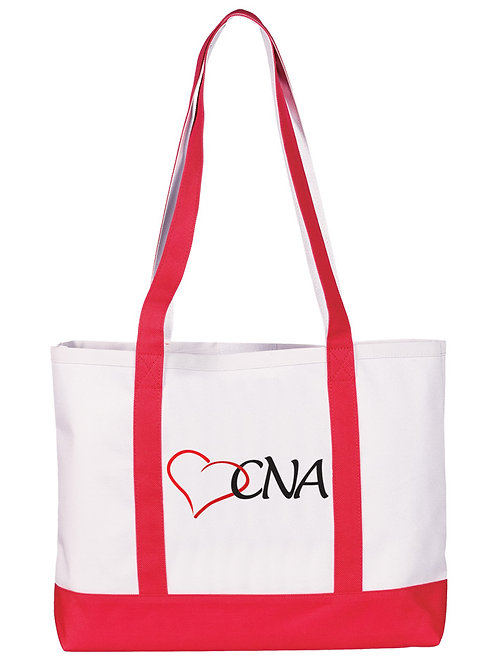 Prestige Large Tote Bag -  CNA on Red