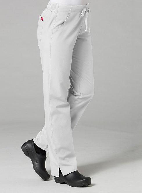 9716 -Half Elastic Pant - White