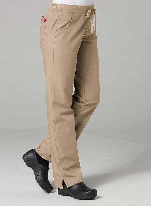 9716 -Half Elastic Pant - Khakhi