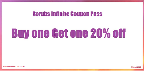 Buy One Get One 20 % off