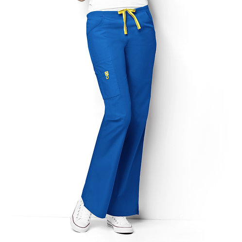 Romeo -6Pkt Flare Leg Women's Pant Royal Blue
