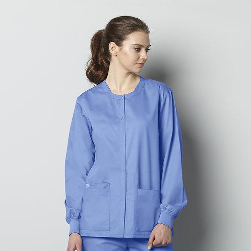 Unisex Snap Front Jacket 800 -Ceil Blue
