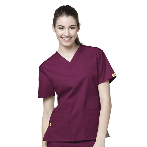 The Bravo V-neck Top TOP Wine