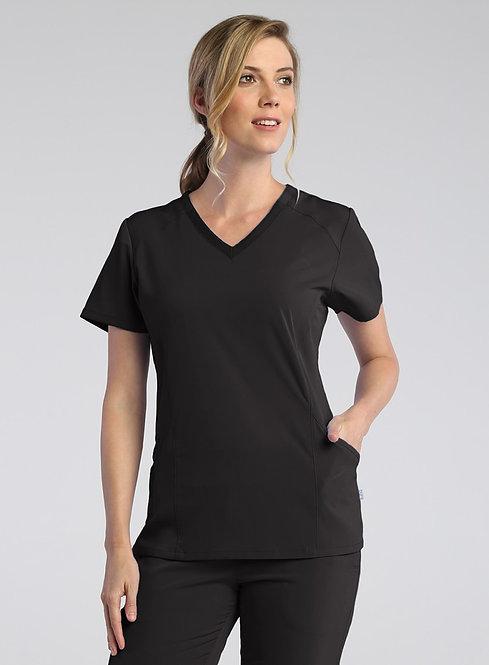 Maven - PureSoft - Ladies Modern V-Neck  Black