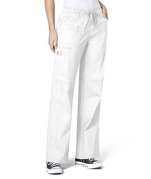 WonderFlex Faith  Women's Boot-cut  Cargo Pants White