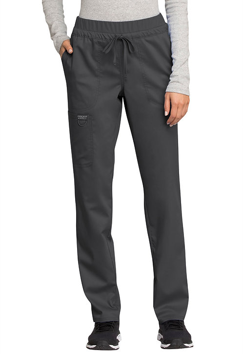 Cherokee - Workwear Revolution - Mid Rise Tapered Leg Drawstring Pant - Pew
